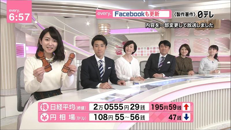 【女子アナキャプ画像】中島芽生さんのニット越しおっぱいや二の腕! 89