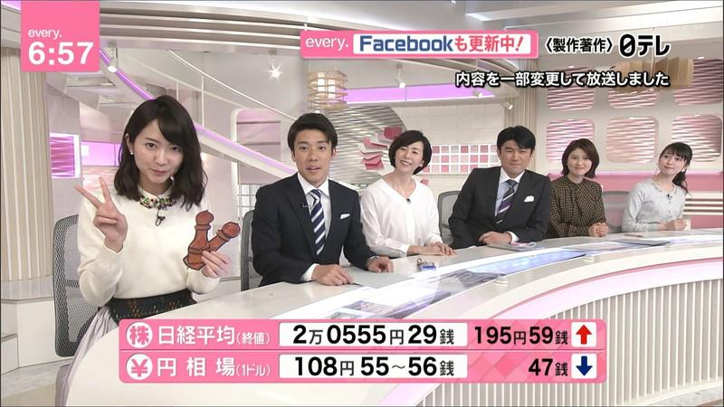 【女子アナキャプ画像】中島芽生さんのニット越しおっぱいや二の腕! 90