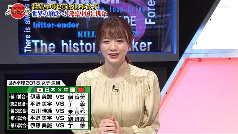 【女子アナキャプ画像】テレ東アナウンサー森香澄さんの着衣おっぱい! 05