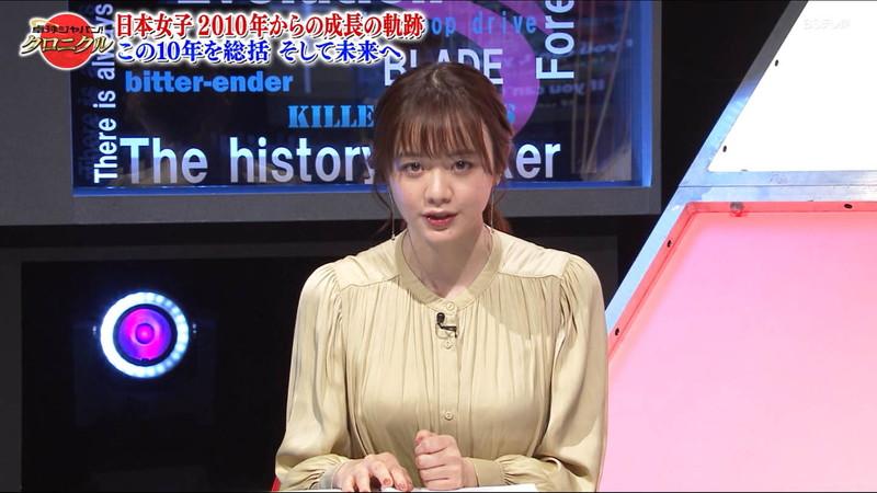 【女子アナキャプ画像】テレ東アナウンサー森香澄さんの着衣おっぱい! 06