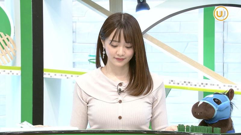 【女子アナキャプ画像】テレ東アナウンサー森香澄さんの着衣おっぱい! 09