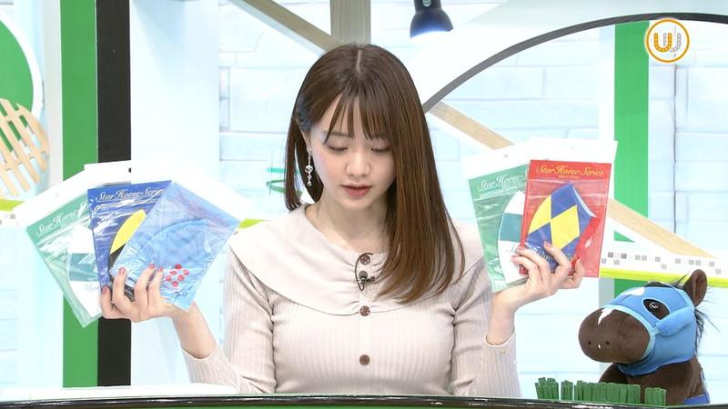 【女子アナキャプ画像】テレ東アナウンサー森香澄さんの着衣おっぱい! 11