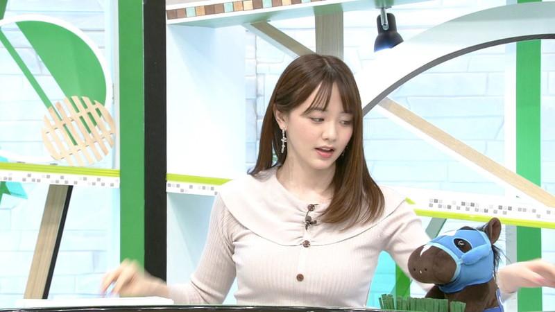 【女子アナキャプ画像】テレ東アナウンサー森香澄さんの着衣おっぱい! 16