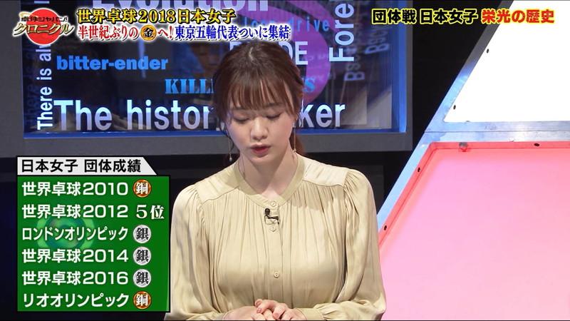 【女子アナキャプ画像】テレ東アナウンサー森香澄さんの着衣おっぱい! 63