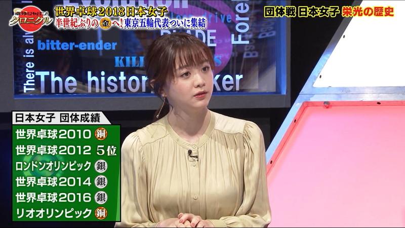 【女子アナキャプ画像】テレ東アナウンサー森香澄さんの着衣おっぱい! 64