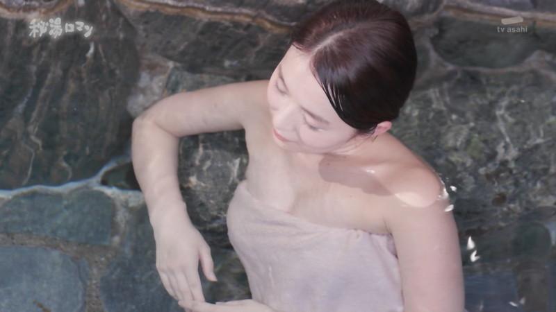 【温泉エロ画像】秘湯ロマンとかいう堂々と入浴シーンを見せてくれる番組w 61