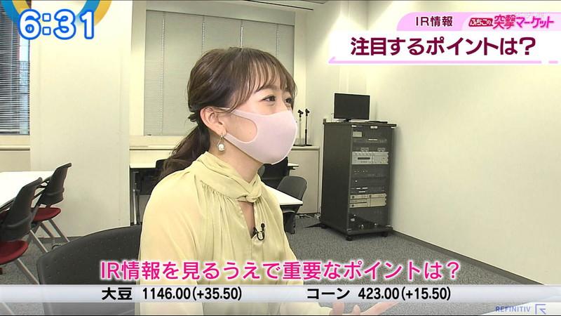 【女子アナキャプ画像】テレ東アナウンサーの着衣おっぱいと透けブラ! 06