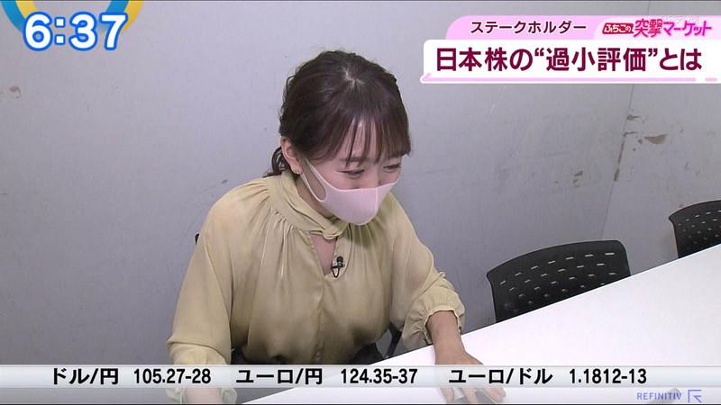 【女子アナキャプ画像】テレ東アナウンサーの着衣おっぱいと透けブラ! 12