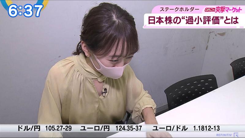 【女子アナキャプ画像】テレ東アナウンサーの着衣おっぱいと透けブラ! 13