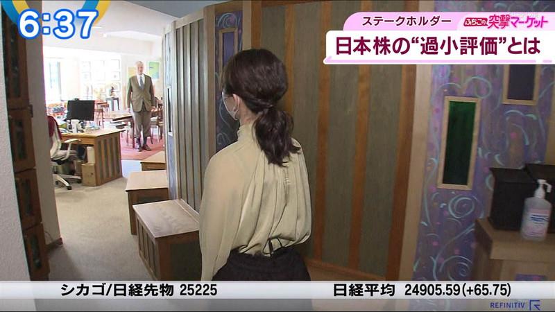 【女子アナキャプ画像】テレ東アナウンサーの着衣おっぱいと透けブラ! 14