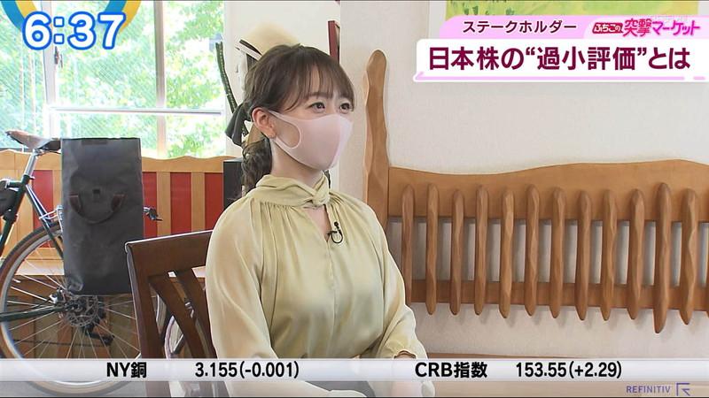 【女子アナキャプ画像】テレ東アナウンサーの着衣おっぱいと透けブラ! 16