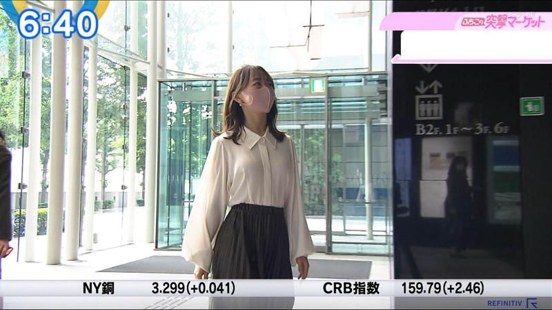 【女子アナキャプ画像】テレ東アナウンサーの着衣おっぱいと透けブラ! 31
