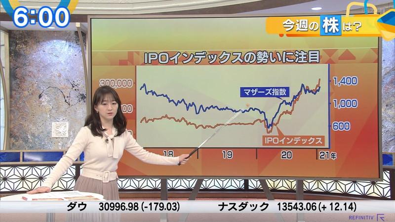【女子アナキャプ画像】テレ東アナウンサーの着衣おっぱいと透けブラ! 45