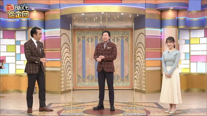 【女子アナキャプ画像】テレ東アナウンサーの着衣おっぱいと透けブラ! 48