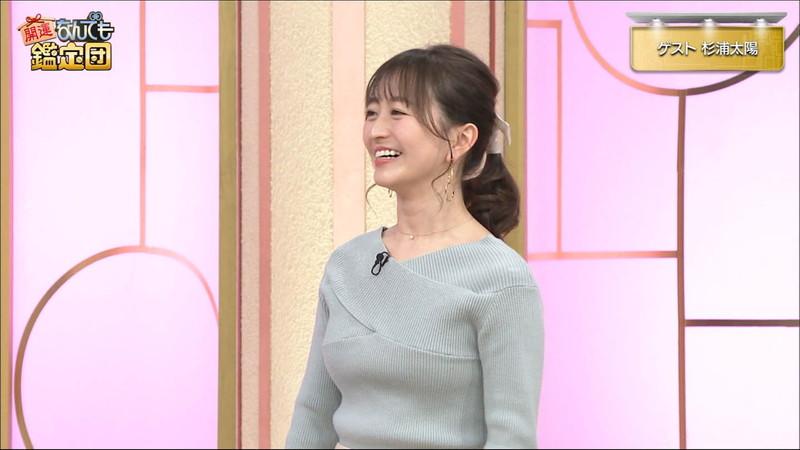 【女子アナキャプ画像】テレ東アナウンサーの着衣おっぱいと透けブラ! 50