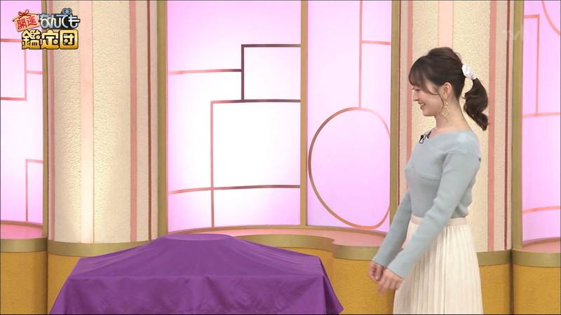【女子アナキャプ画像】テレ東アナウンサーの着衣おっぱいと透けブラ! 52