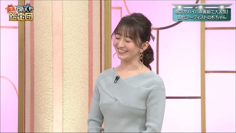 【女子アナキャプ画像】テレ東アナウンサーの着衣おっぱいと透けブラ! 56