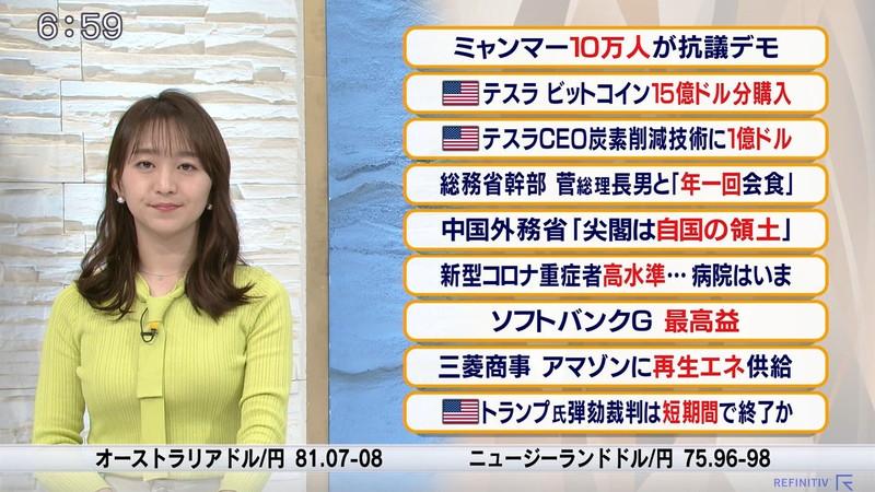 【女子アナキャプ画像】テレ東アナウンサーの着衣おっぱいと透けブラ! 58