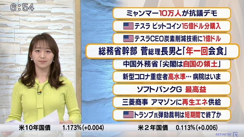 【女子アナキャプ画像】テレ東アナウンサーの着衣おっぱいと透けブラ! 59