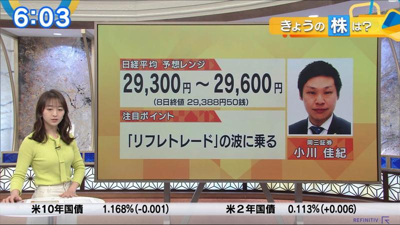 【女子アナキャプ画像】テレ東アナウンサーの着衣おっぱいと透けブラ! 63
