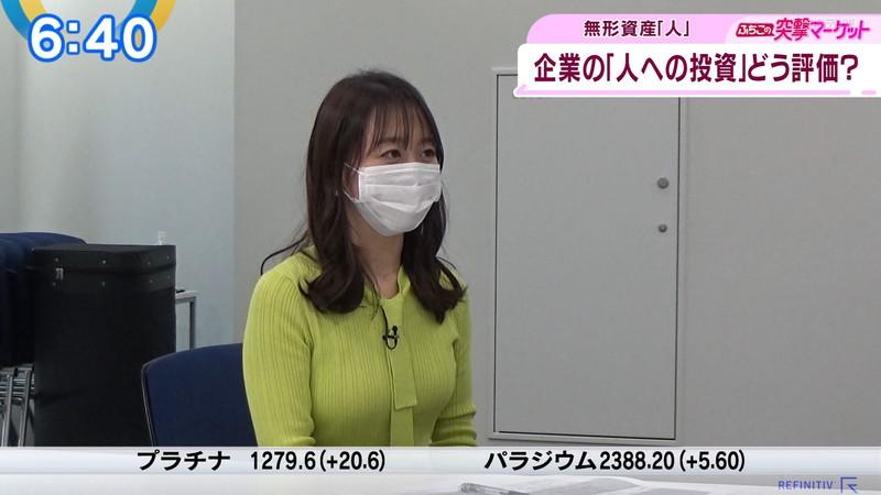 【女子アナキャプ画像】テレ東アナウンサーの着衣おっぱいと透けブラ! 65