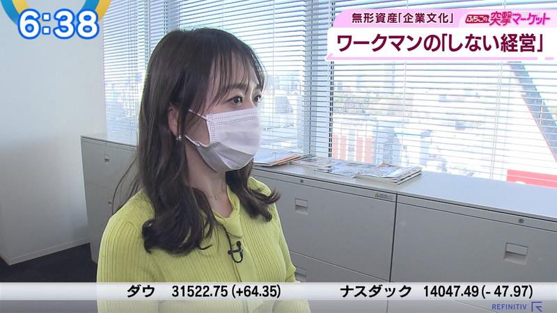 【女子アナキャプ画像】テレ東アナウンサーの着衣おっぱいと透けブラ! 66