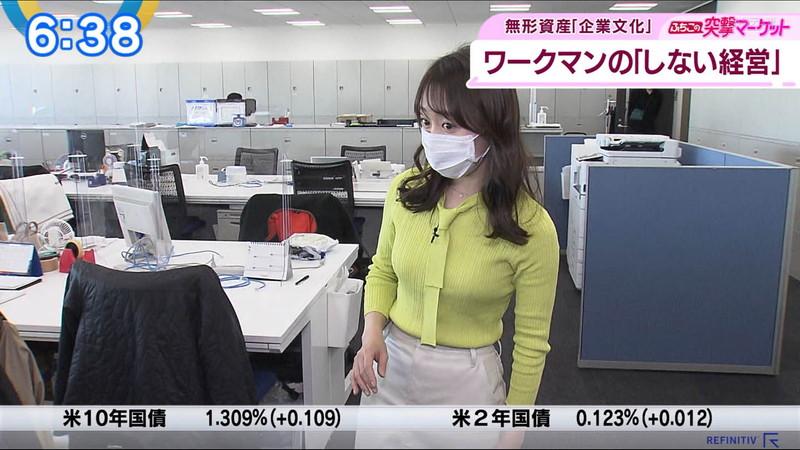 【女子アナキャプ画像】テレ東アナウンサーの着衣おっぱいと透けブラ! 72