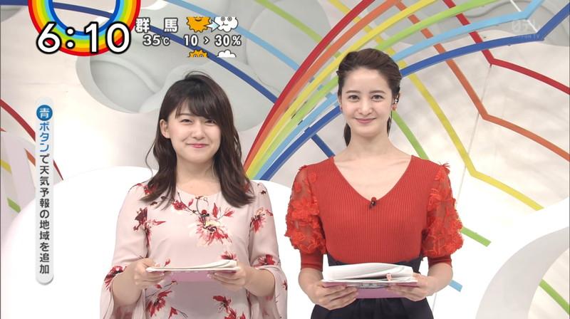 【女子アナキャプ画像】日テレ女子アナウンサーの食レポと着衣おっぱい 06