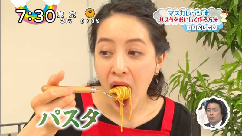 【女子アナキャプ画像】日テレ女子アナウンサーの食レポと着衣おっぱい 17