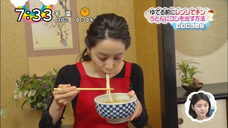【女子アナキャプ画像】日テレ女子アナウンサーの食レポと着衣おっぱい 19