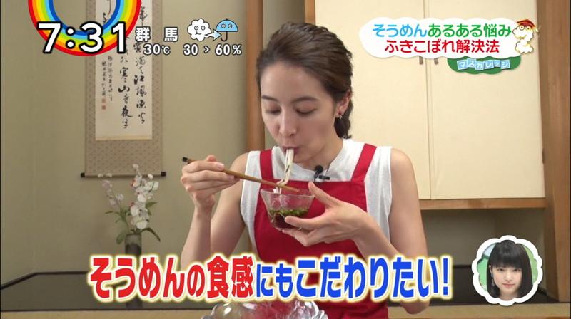【女子アナキャプ画像】日テレ女子アナウンサーの食レポと着衣おっぱい 20