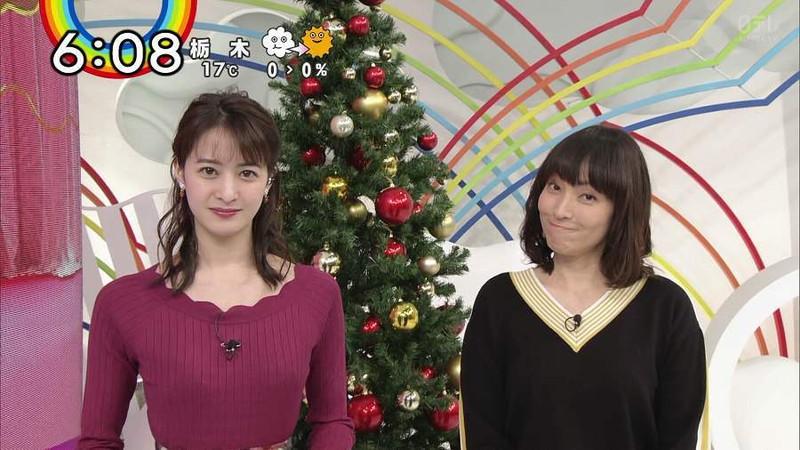 【女子アナキャプ画像】日テレ女子アナウンサーの食レポと着衣おっぱい 40