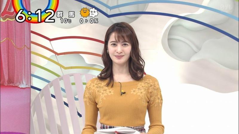 【女子アナキャプ画像】日テレ女子アナウンサーの食レポと着衣おっぱい 44