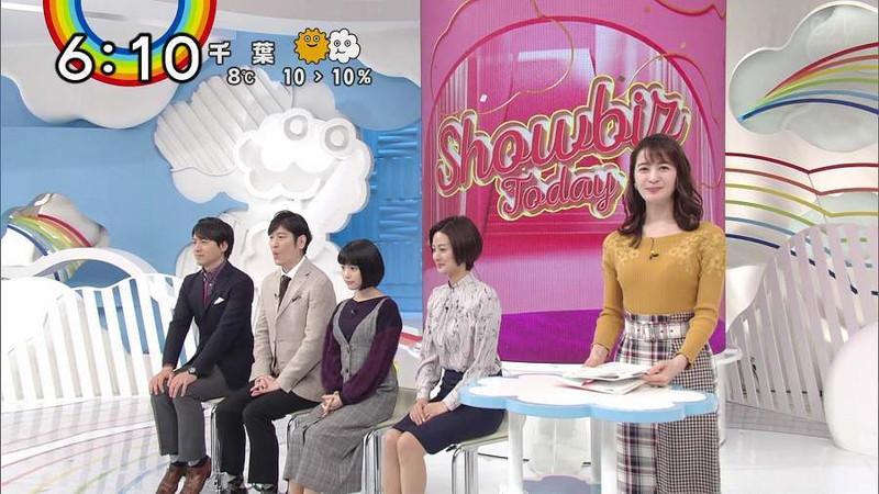 【女子アナキャプ画像】日テレ女子アナウンサーの食レポと着衣おっぱい 45