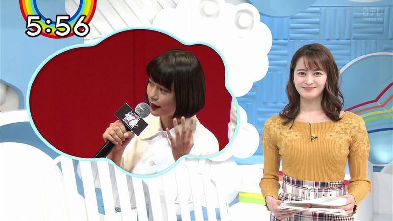 【女子アナキャプ画像】日テレ女子アナウンサーの食レポと着衣おっぱい 46