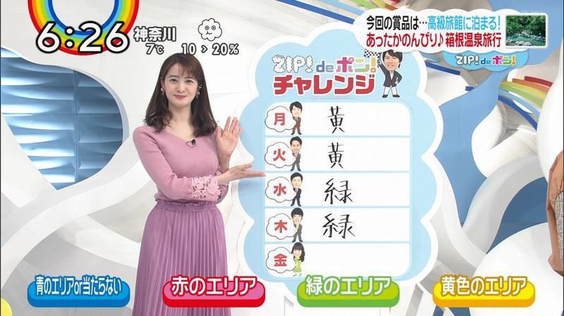 【女子アナキャプ画像】日テレ女子アナウンサーの食レポと着衣おっぱい 48