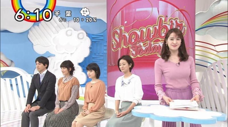 【女子アナキャプ画像】日テレ女子アナウンサーの食レポと着衣おっぱい 53