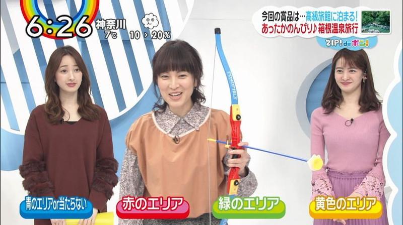 【女子アナキャプ画像】日テレ女子アナウンサーの食レポと着衣おっぱい 54
