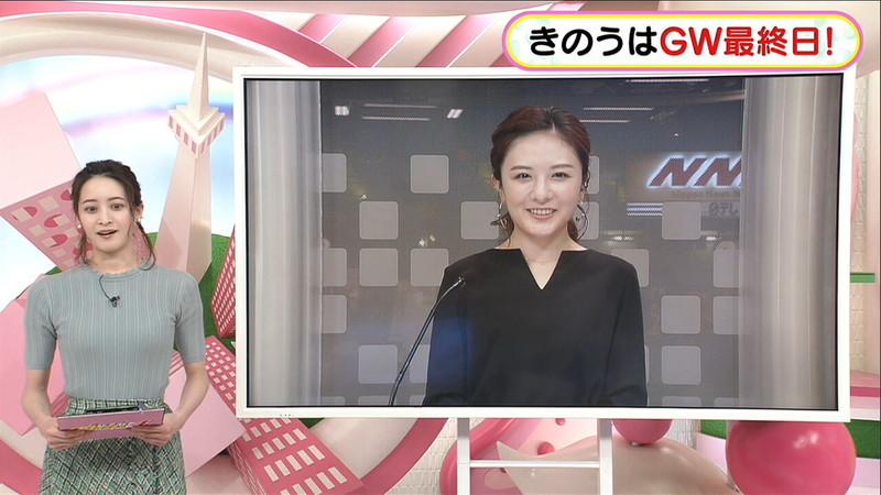 【女子アナキャプ画像】日テレ女子アナウンサーの食レポと着衣おっぱい 76