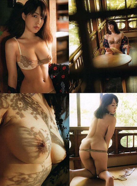 【永岡怜子ヌード画像】Gカップ巨乳ボディをヘアヌードで魅せつけるエロ美女 21