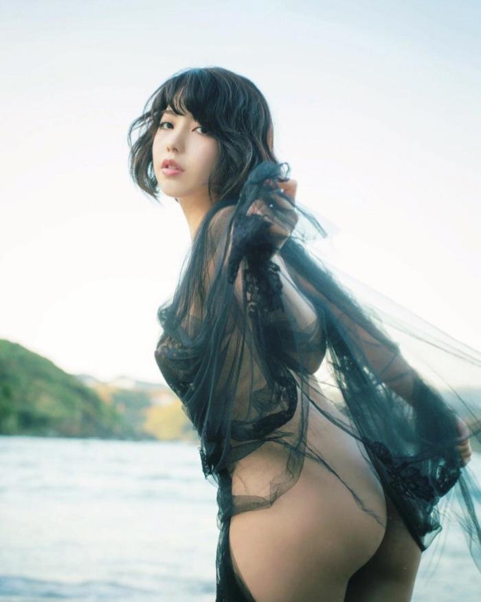 【永岡怜子ヌード画像】Gカップ巨乳ボディをヘアヌードで魅せつけるエロ美女 63