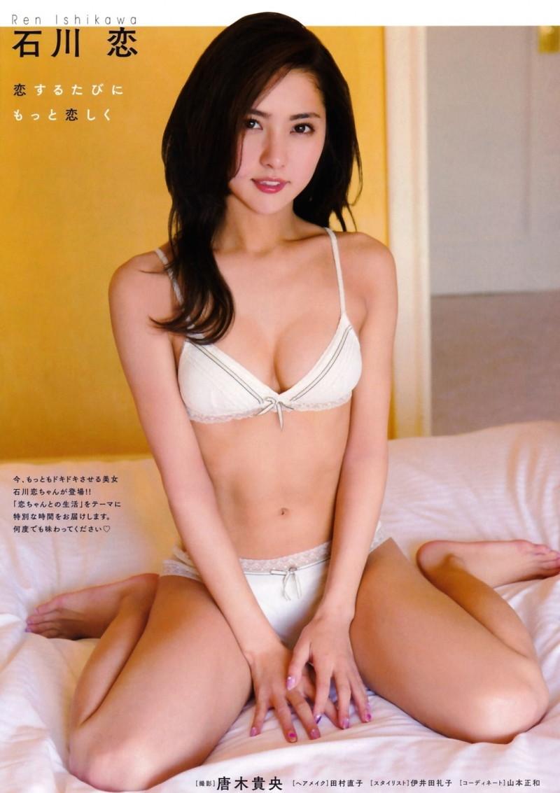 【石川恋グラビア画像】高身長なスレンダーボディに下着姿がエロい! 49