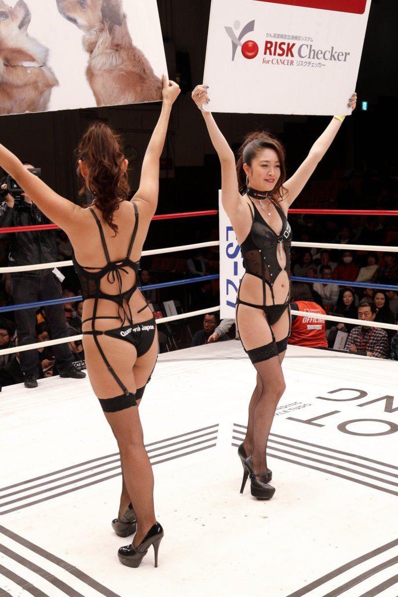 【ラウンドガールエロ画像】格闘技のリングを華やか彩る美女たち 31