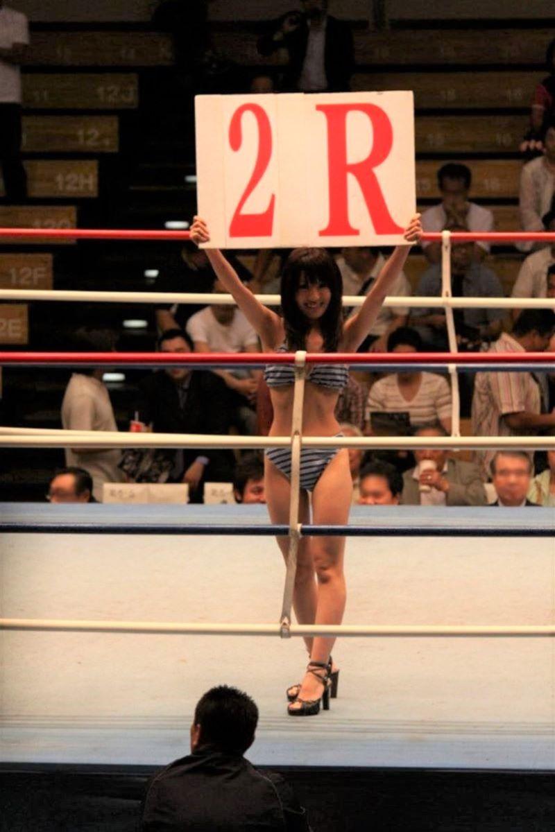 【ラウンドガールエロ画像】格闘技のリングを華やか彩る美女たち 39