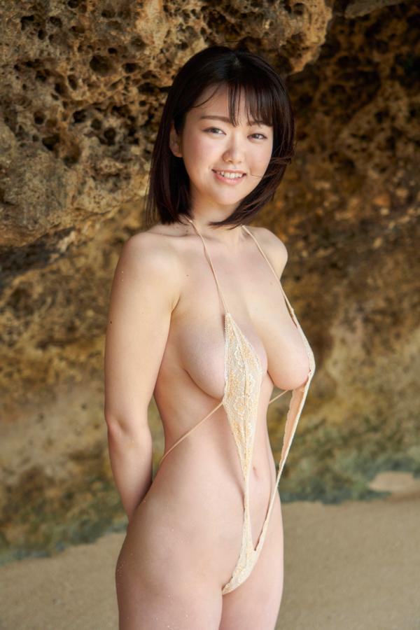 【山岸楓キャプ画像】パイズリさせたらすぐイケそうな色白垂れ爆乳! 60