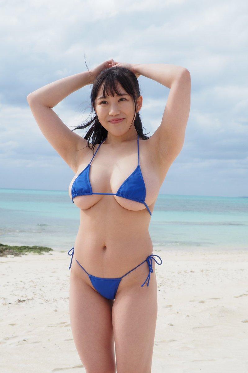 【愛萌なのエロ画像】むっちむちIカップ爆乳巨尻ボディの現役女子大生 83
