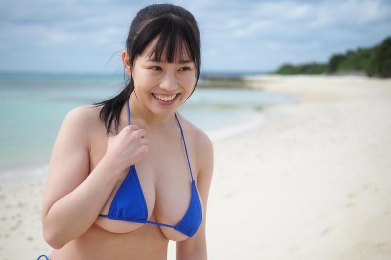 【愛萌なのエロ画像】むっちむちIカップ爆乳巨尻ボディの現役女子大生 87