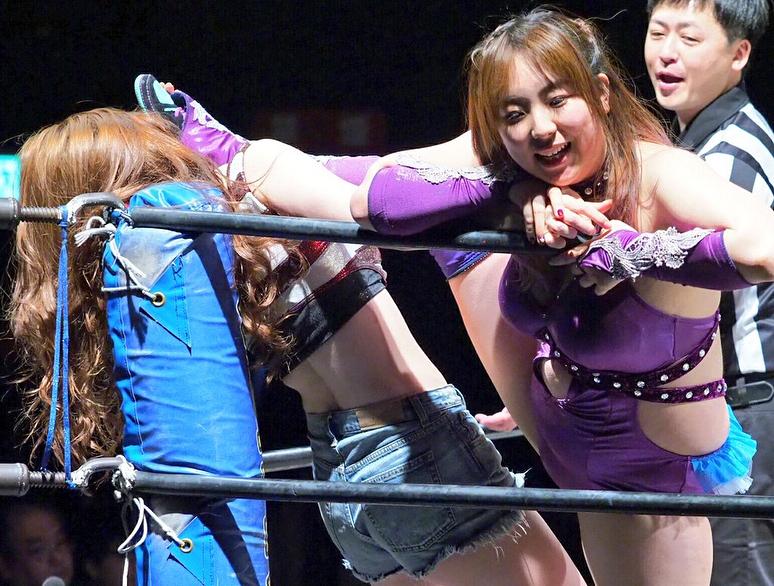 【上福ゆきエロ画像】高身長Fカップ巨乳のド迫力ボディがリングに舞う! 74