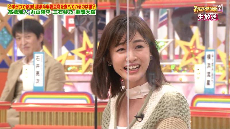 【女子アナキャプ画像】インコ大好きフリーアナウンサーの食レポとチラリw 31