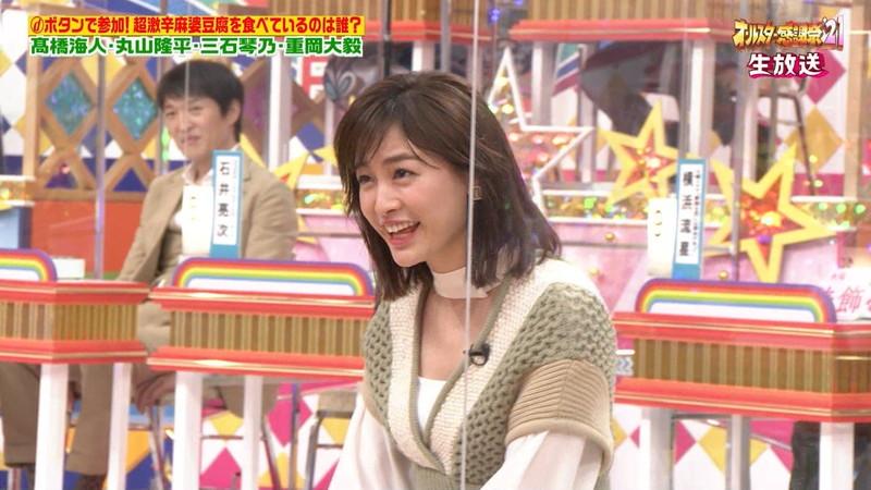 【女子アナキャプ画像】インコ大好きフリーアナウンサーの食レポとチラリw 32